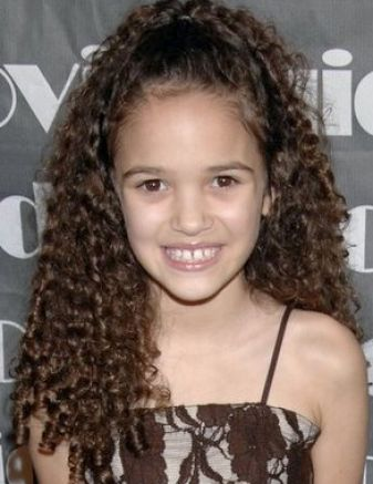 kid hairstyles for girls with curly hair. Girls medium curly hairstyle