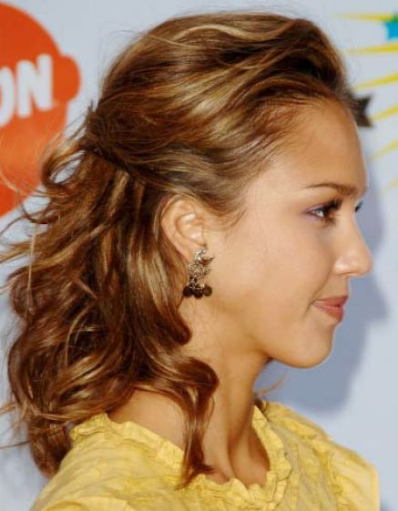 Half up half down prom hairstyles for short hair pictures 1
