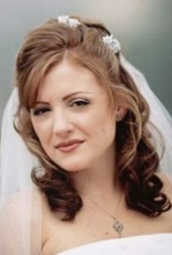 Wedding hairstyles for medium length hair half up 12