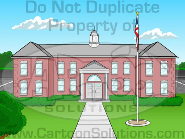 Cartoon school building clip art vector clip art online