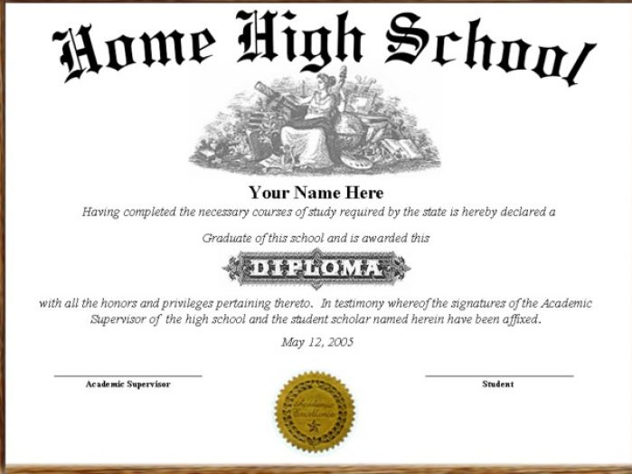 High school diploma template lisamaurodesign for Free fake high school diploma templates