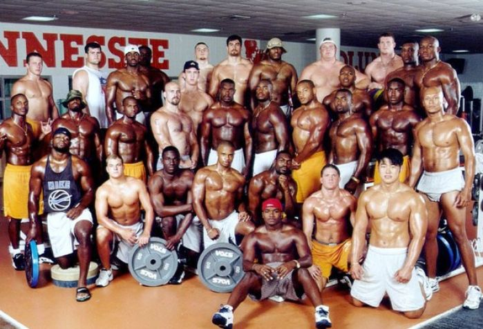 high school football players shirtless 3