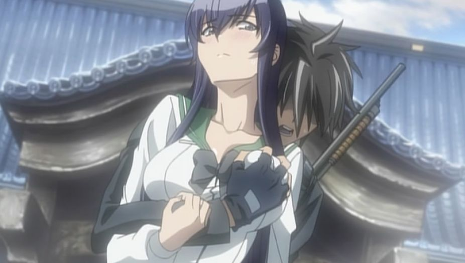 highschool of the dead saeko and takashi 3