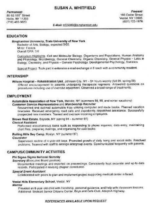 example resume how to do a resume example