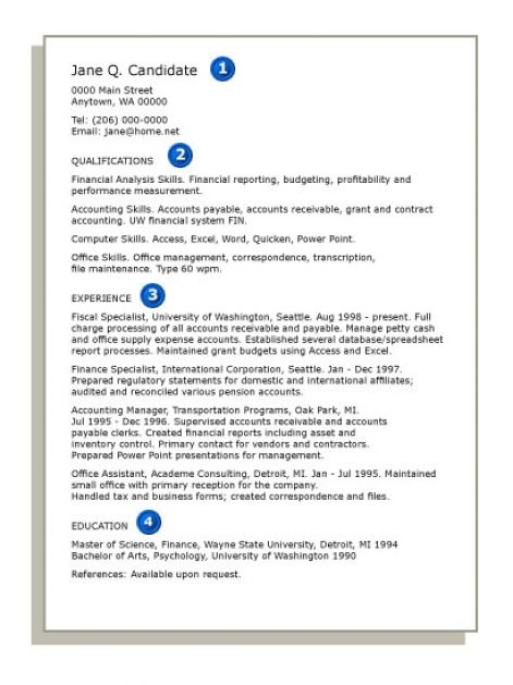 How to do a resume for a job pictures 4