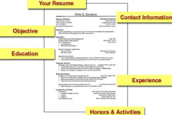 How to do a resume for first job