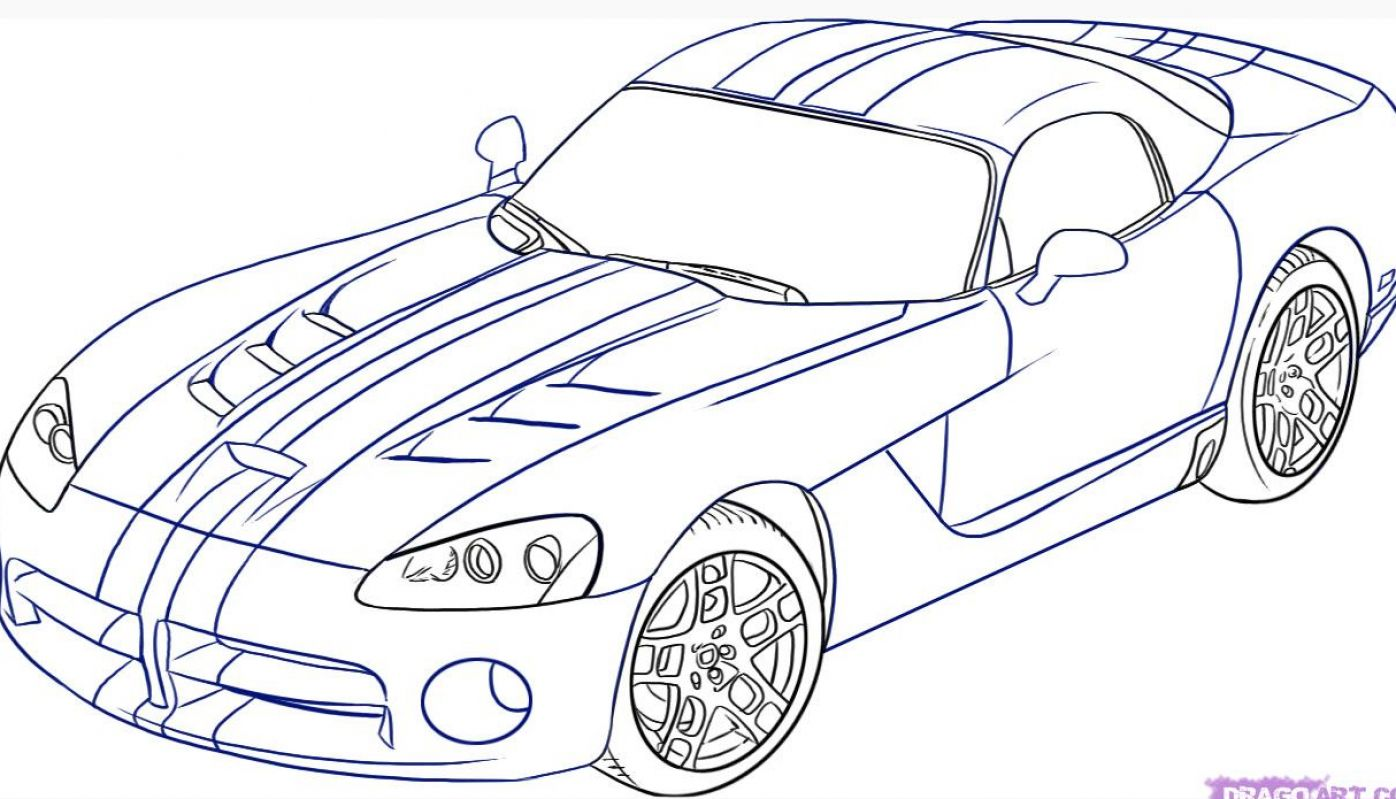 How to draw a car step by step pictures 1