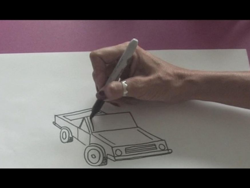 How to draw a simple side view car sketch basic steps