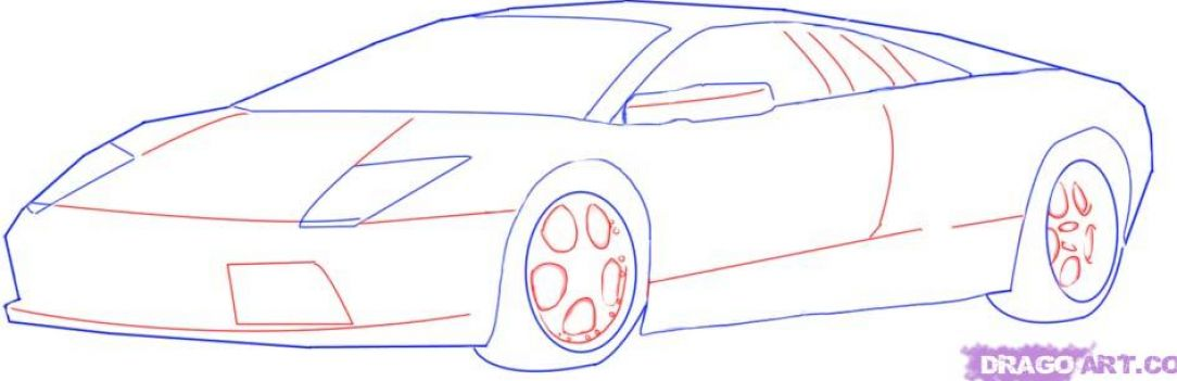 how to draw car wityh face