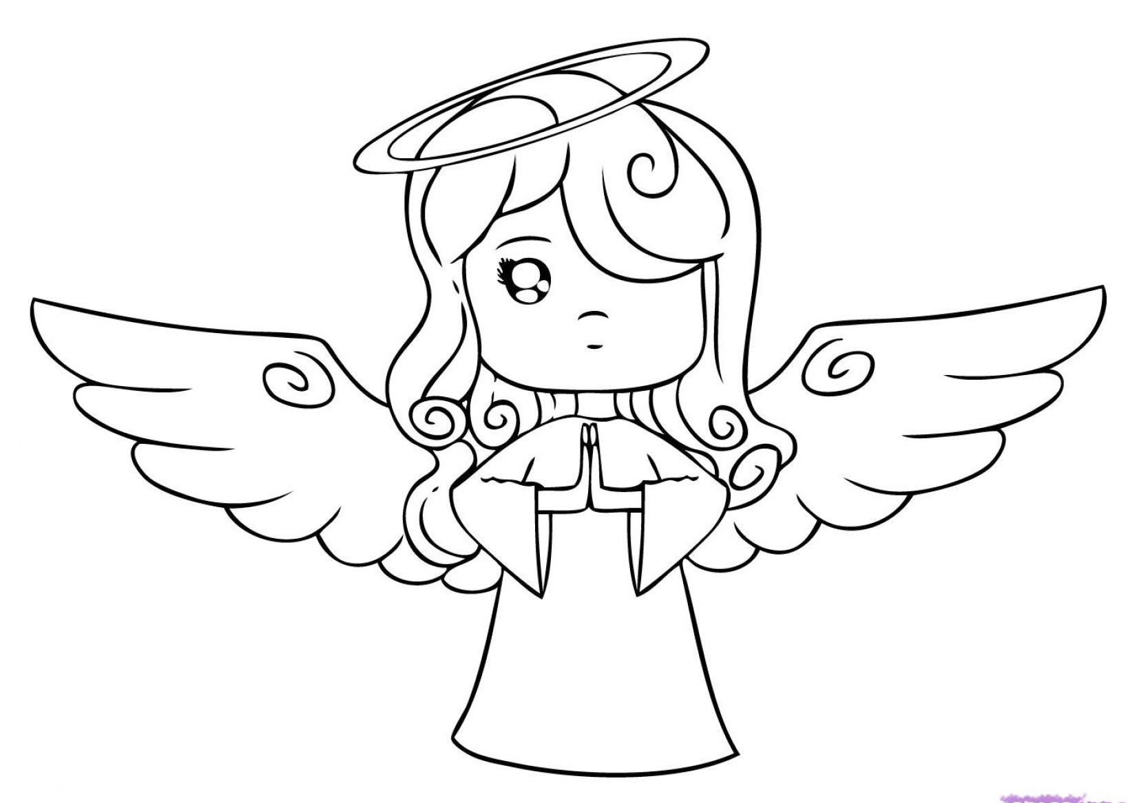 how to draw a christmas angel 1