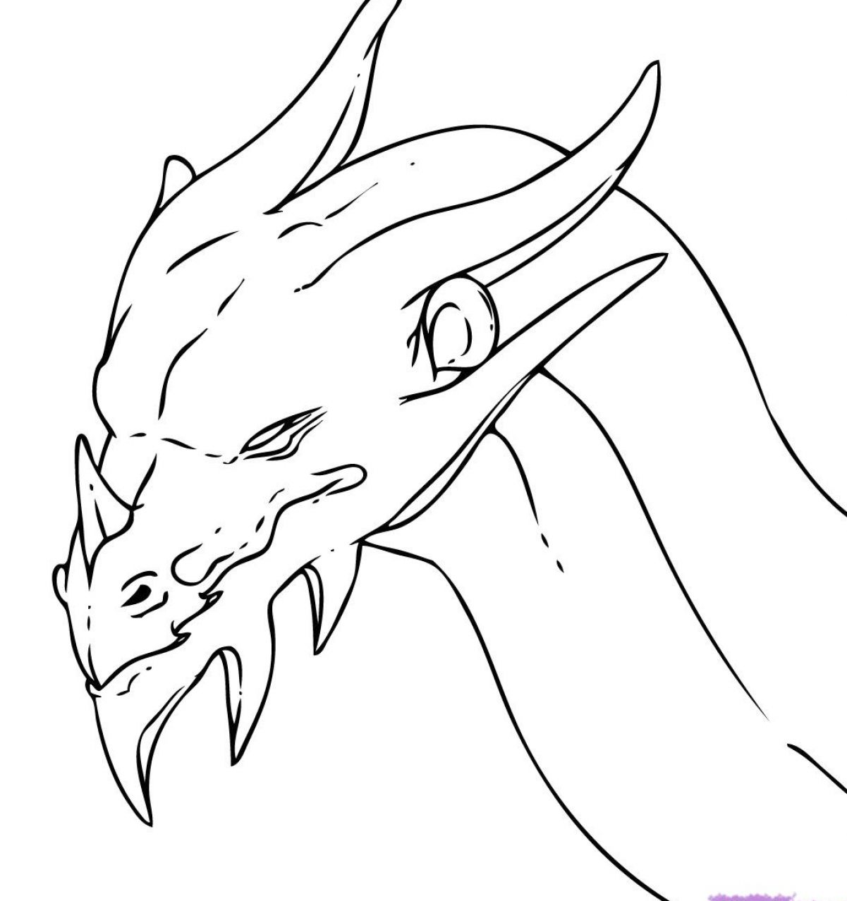 How to draw a dragon head step by step 2