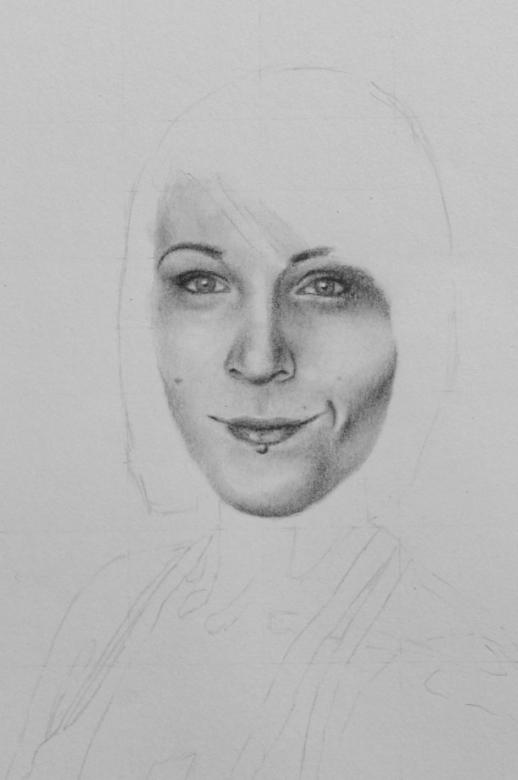 How to draw a face portrait pictures 2