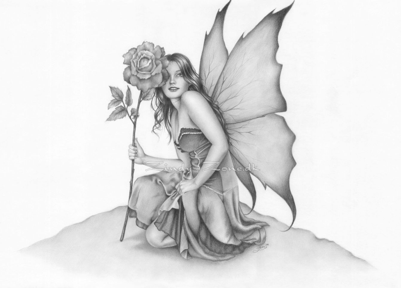 Drawing Of Fairy | New Calendar Template Site