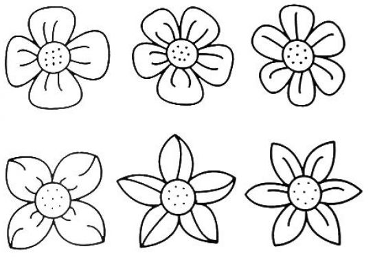 How To Draw A Flower Step By For Kids Pictures 3 Resolution