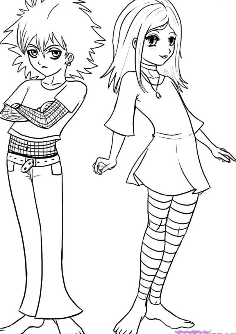 How to draw anime clothes for girls step pictures 1