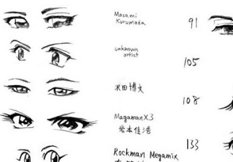 how to draw anime eyes female step by step