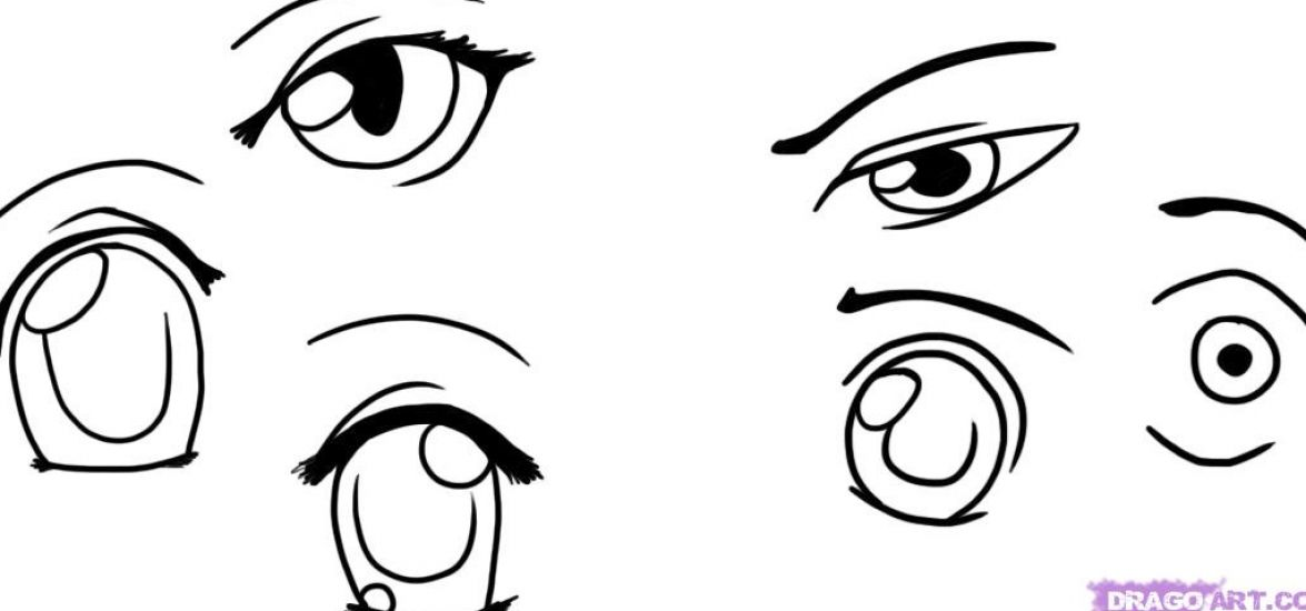 How to draw anime eyes step by step instructions pictures 1