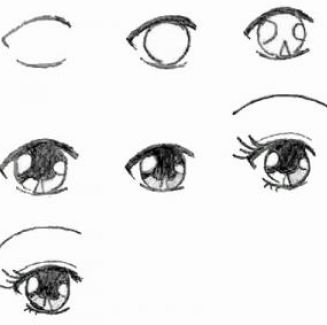 How to draw anime eyes step by step pictures 2