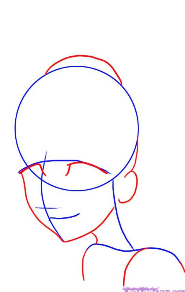 How to draw anime faces for beginners step pictures 3