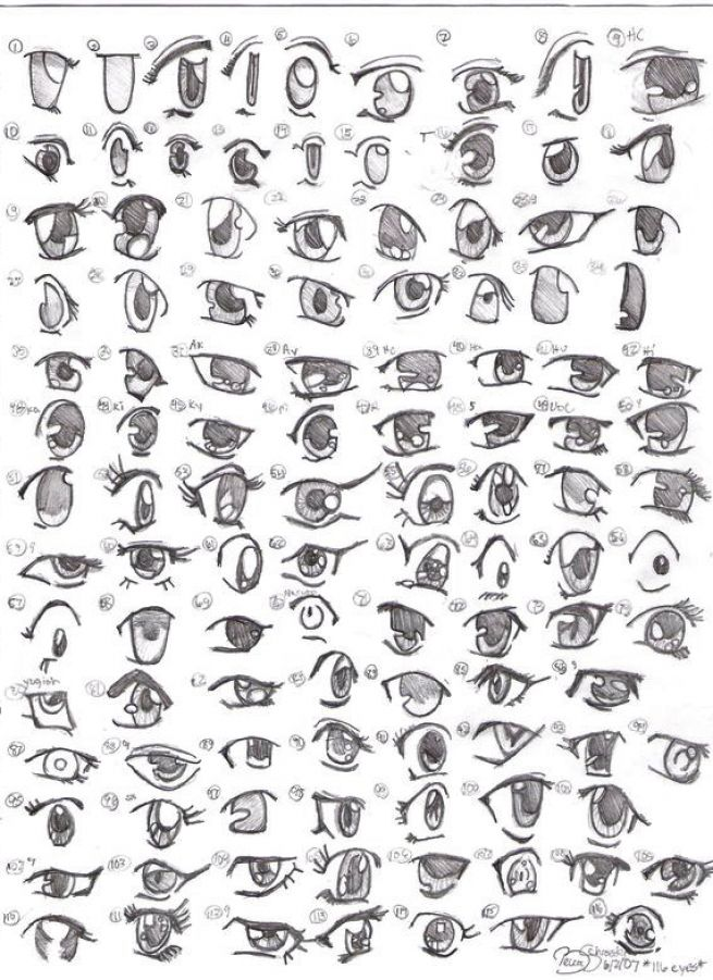 Girl Eyes Drawing Anime Girl Eyes Drawing