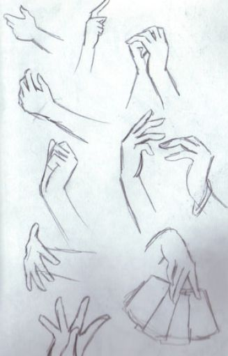 How to draw anime girl hands pictures 1