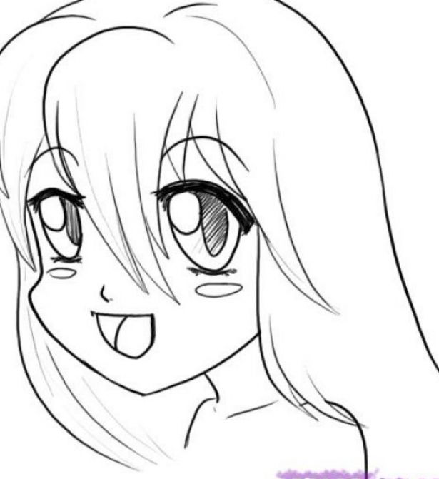 How to draw anime girls faces step by pictures 4