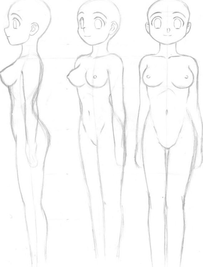 How to draw anime girls pictures 1