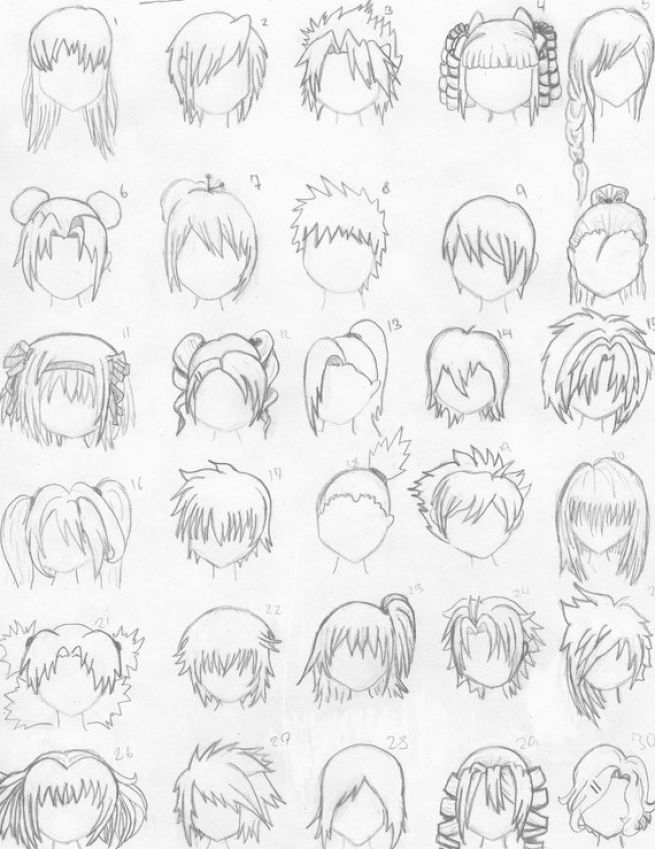 How To Draw Anime Hair Styles