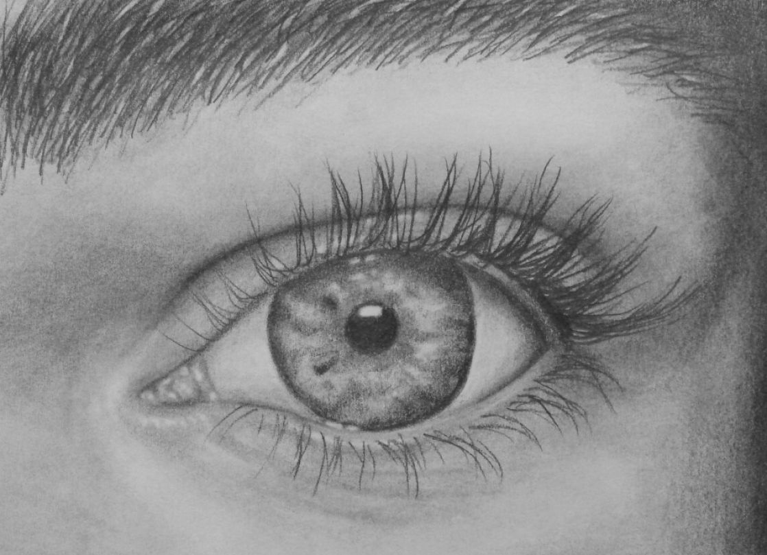 How to draw eyes looki...Eyes Looking Up Drawing