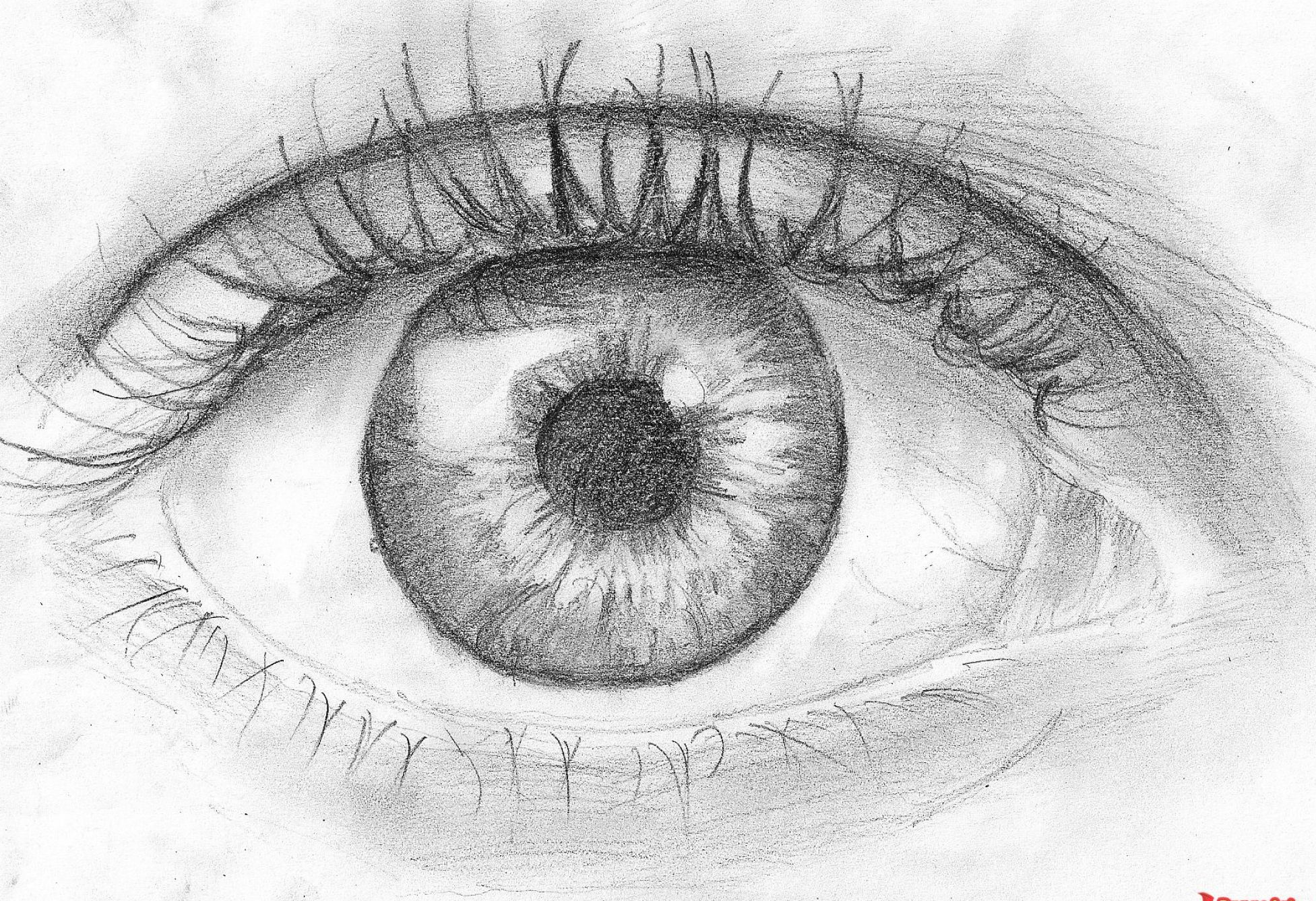 How to draw nature sketches amazingly simple for beginners - Famous Flying Eyeball Drawing Flying Eye Csp10335801