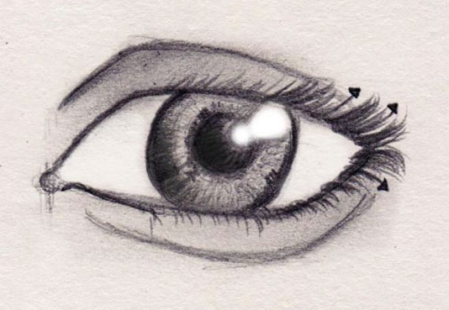 How to draw eyes step by step pictures 4