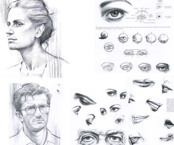 How To Draw Realistic Face Drawing Sketch Coloring Page