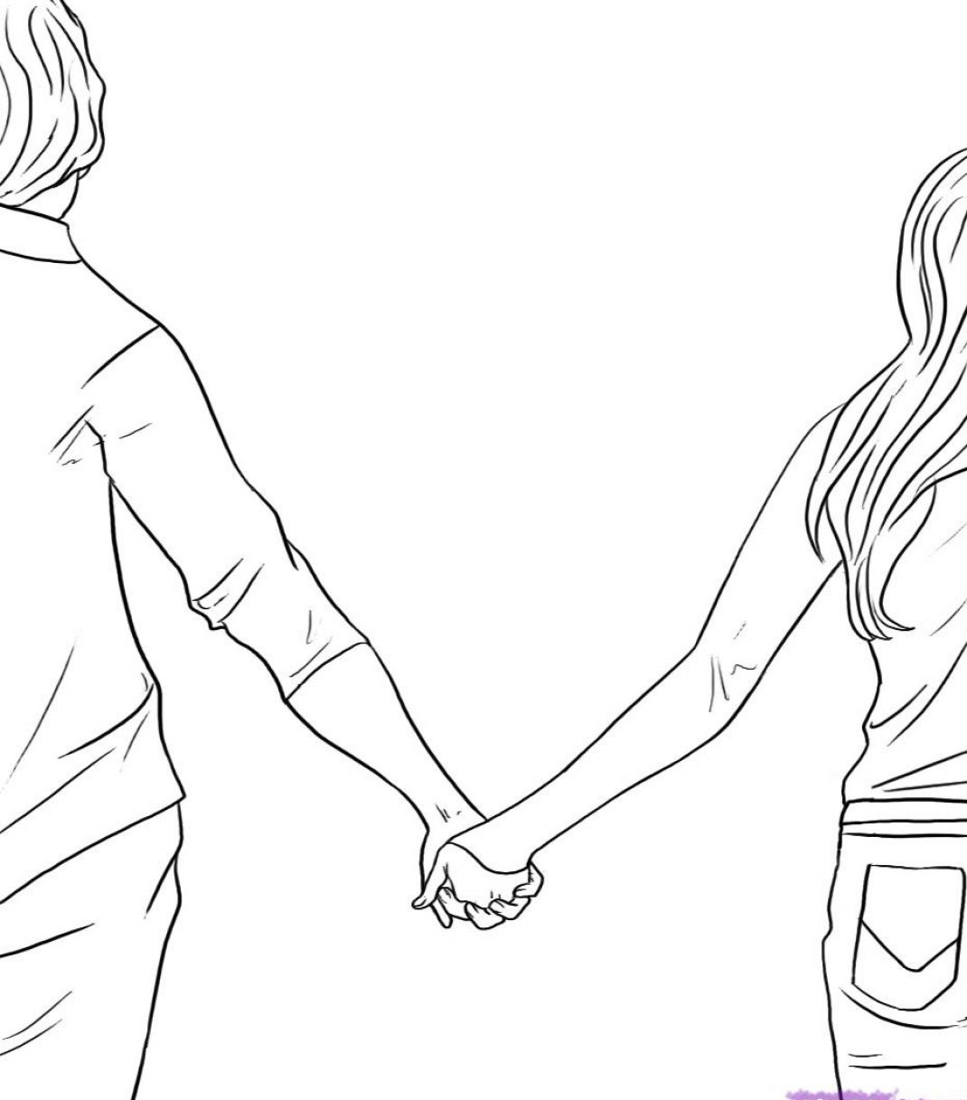 How To Draw Holding Hands Step By Step Hands People Free | Apps ...