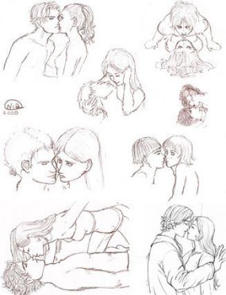 How to draw people kissing in the rain step by step pictures 2