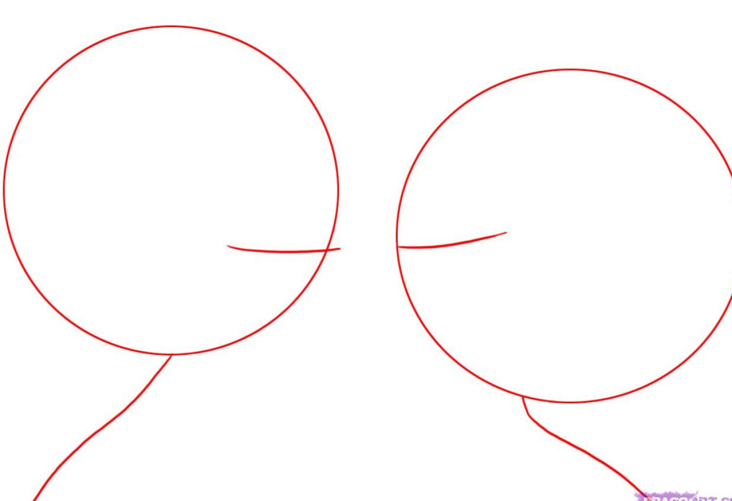 how to draw two people kissing