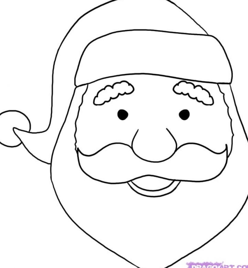 How to draw santa claus face pictures 1 realistic santa claus face