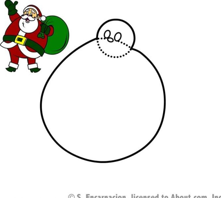 how to draw santa clause step by step 3