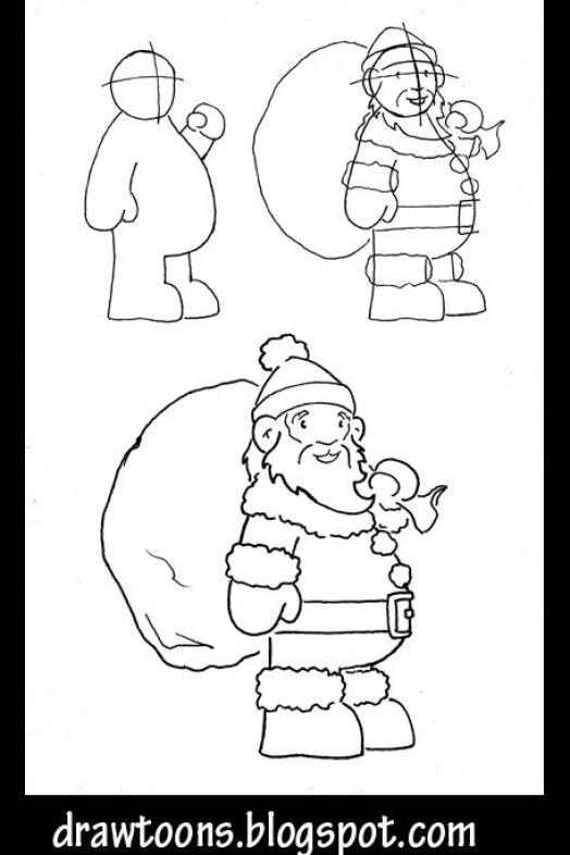 how to draw santa clause step by step 4
