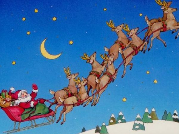 how to draw santa on his sleigh 1