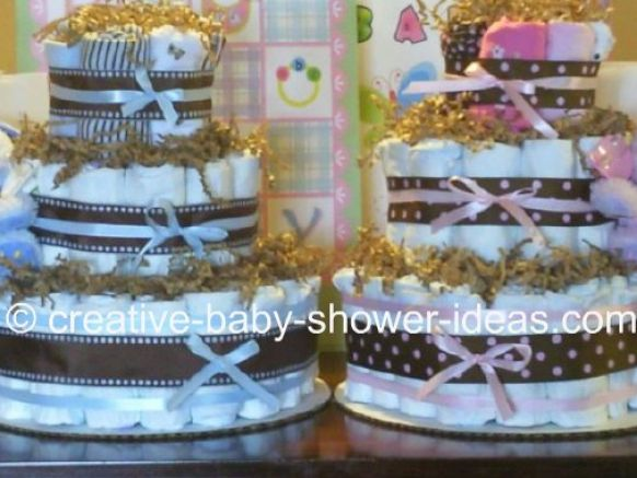 How to make a baby boy diaper cake pictures 2