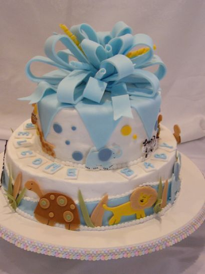 How to make a baby shower cake pictures 3