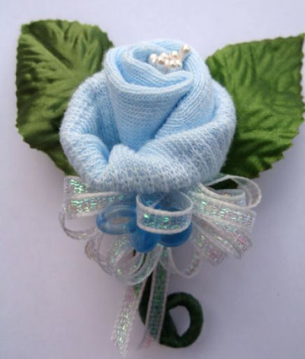 baby shower baby shower corsage 11 thread each baby sock with a b