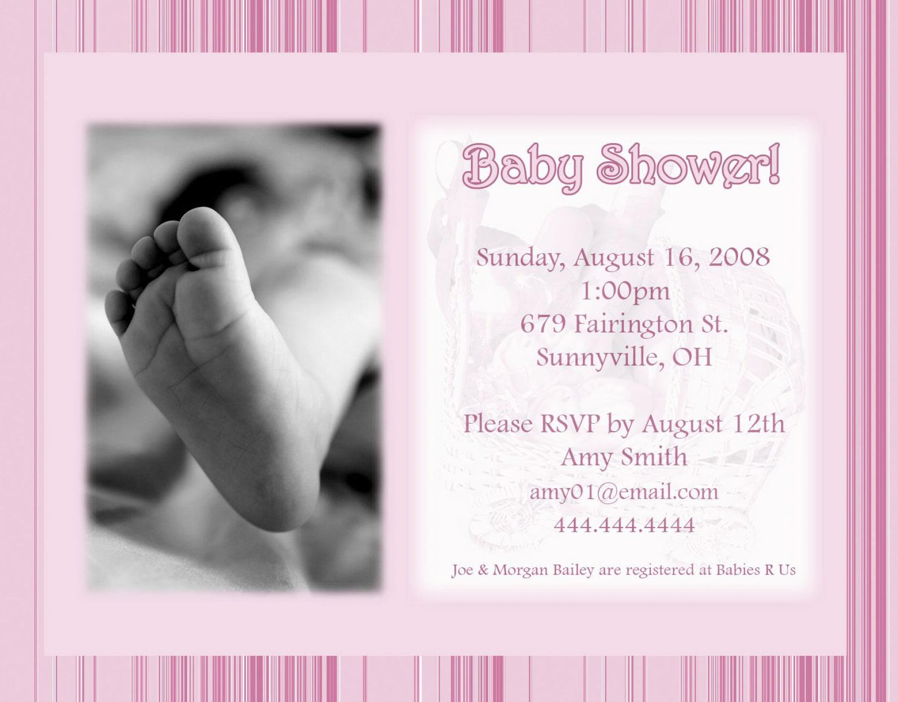 How to make a baby shower invitation pictures 4