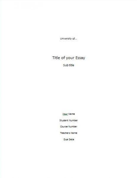 What Is a Title Page for Essay
