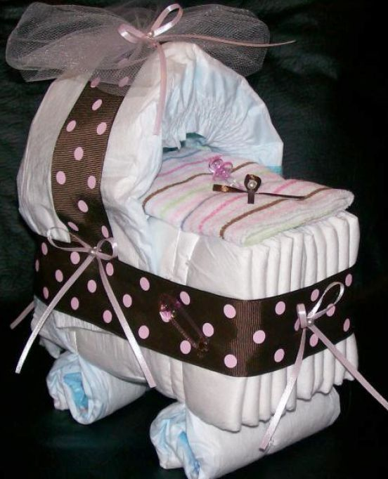 how to make a diaper bassinet cake 1