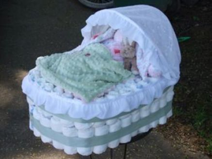 how to make a diaper bassinet cake 4