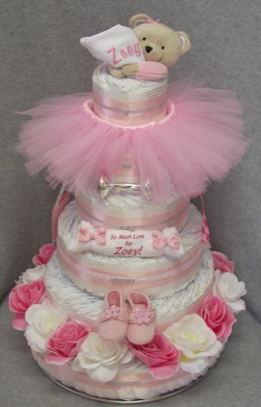 how to make a diaper cake for baby shower pictures 4