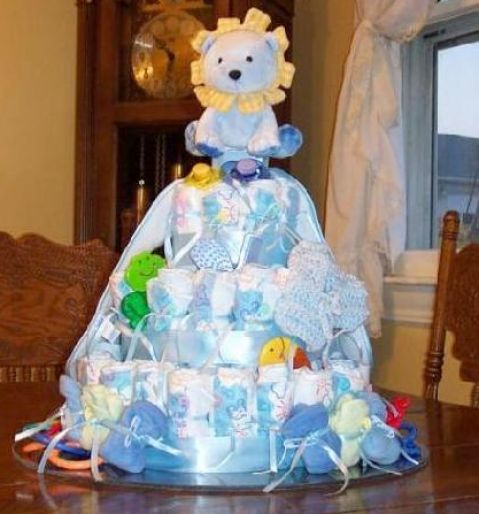How to make a diaper cake step by step
