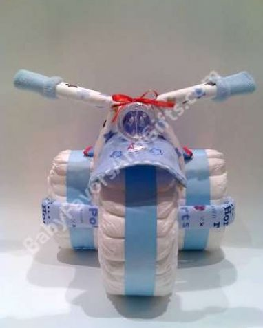 How to make a diaper tricycle pictures 1