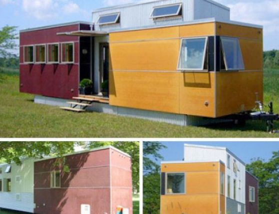 how to make a mobile home look like a house 4